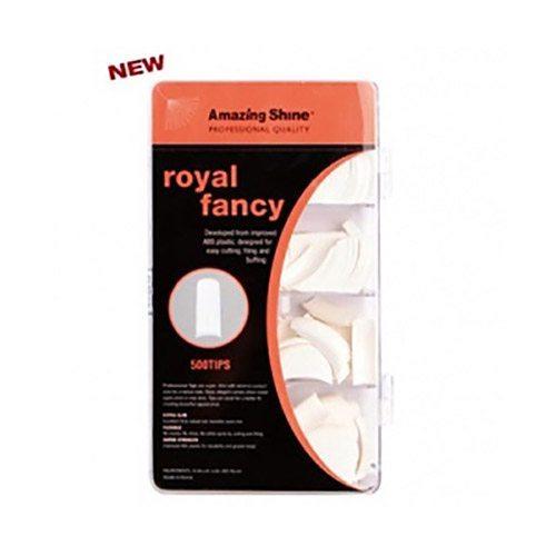 Amazing Shine Royal Fancy Nail Tips - White (500)
