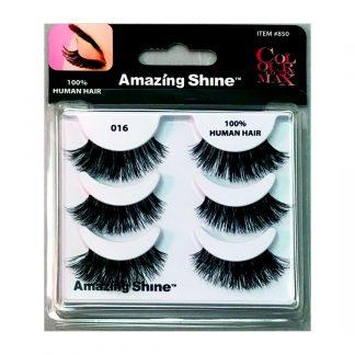 Amazing Shine Human Hair False Eyelashes Set #016 (1pc)
