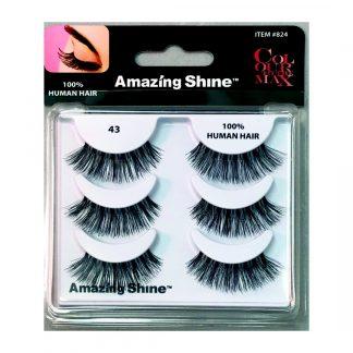 Amazing Shine Human Hair False Eyelashes Set #43 (1pc)