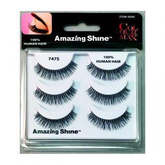 Amazing Shine Human Hair False Eyelashes Set #747S (1pc)