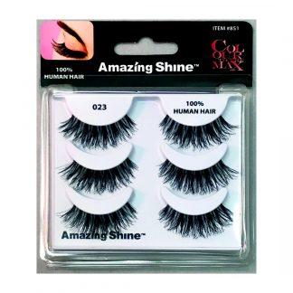 Amazing Shine Human Hair False Eyelashes Set #023 (1pc)