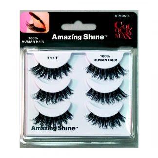 Amazing Shine Human Hair False Eyelashes Set #311T (1pc)