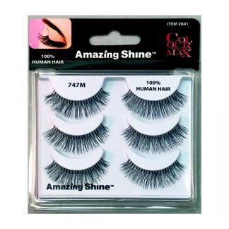 Amazing Shine Human Hair False Eyelashes Set #747M (1pc)