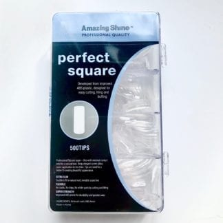 Amazing Shine Perfect Square Full Moon - Clear 500 Tips