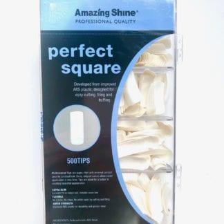 Amazing Shine Perfect Square Full Moon - White 500 Tips