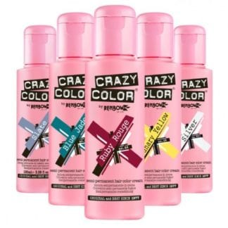 Crazy Color Hair Dye 100ml (4pc) (41 Shades)