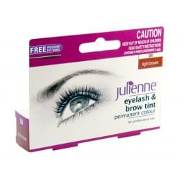 Julienne Eyelash & Brow Tint - Light Brown (1pc)