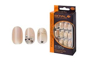 Royal 24 Diamonds Forever Nail Tips with 3g Glue (NNAI156) (6pcs)