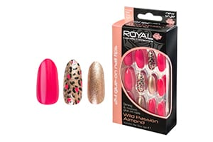 Royal 24 Wild Passion Almond Nail Tips with 3g Glue (NNAI260) (6pcs)