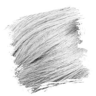 Crazy Color Semi Permanent Hair Dye - Silver (100ml)