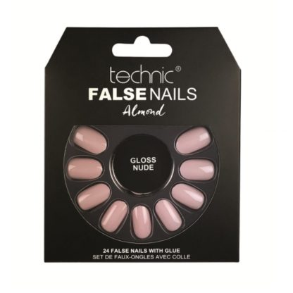 Technic Almond False Nails - Gloss Nude (6pcs)