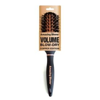 Amazing Shine Professional Thermal Round Boar Brush - Copper