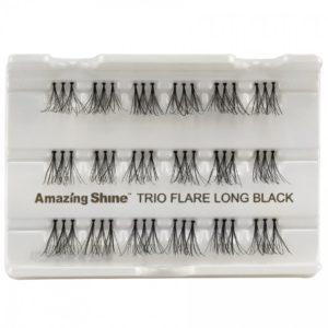 Amazing Shine Human Hair Eyelashes - Trio (12pk)