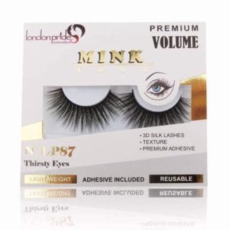 London Pride Mink Faux Premium Volume Lashes (LP87) (6pcs)